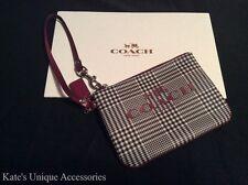 COACH PEYTON OCELOT PLAID PRINT SMALL WRISTLET WALLET F52142 Valentine Gift $68