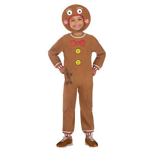 Little Gingerbread Man Shrek Christmas Nativity Kids Fancy Dress Costume New