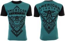 AMERICAN FIGHTER Men T-Shirt NANTUCKET Athletic VIRIDIAN GREEN Biker Gym UFC $40