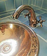 Robinet mélangeur laiton rouge gravé Marocain pour évier lave main lavabo