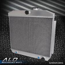 Full Aluminum Cooling Radiator For CHEVY BEL AIR V8 W/ COOLER  1955 1956 1957