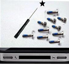 10 X Pentalobe 5-Point Star Bottom Dock Screw + Screwdriver For iPhone 4 4G 4S