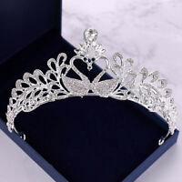 Swan Rhinestone Tiaras Wedding Bridal Queen Wedding Headpiece Crown Headband