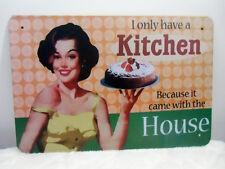Plaque murale métal pinup vintage retro cuisine cuisinière kitchen déco original