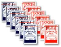 12 x Bicycle SECONDS 808 Rider Back Poker Karten Spielkarten 2. Wahl