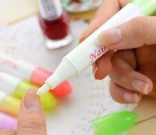 Nail Polish Remover Cleaner Corrector Pen Mistakes Erase + 3 Tips Random Colour