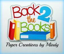 CRAFTECAFE MINDY SCHOOL BOOKS STUDY premade paper piecing scrapbook diecut Title