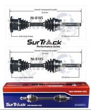 2 Front CV Axle Shafts SurTrack fits Infiniti QX4 Nissan Pathfinder Pickup 95-04