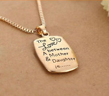 """Wholesale Mom Daughter Necklace """"The Love between A Mother & Daughter"""" Pendant"""