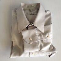 Geoffrey Beene Men's Large Sateen Grey Long Sleeve Dress Shirt