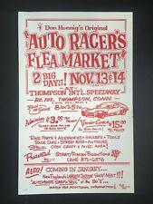 1982 Thompson International Speedway Auto Racer's Flea Market Poster