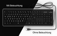 Lacerto® | Deutsche Grossbuchstaben Tastatur mit Beleuchtung, USB, GRANDA-D860