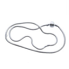5pcs Wholesale Snake Chain Jewelry Necklace Fit European Charms Beads 51cm L