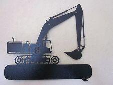 CUSTOM CRAWLER CRANE (NO NAME) MAILBOX TOPPER TEXTURED BLACK POWDER COAT