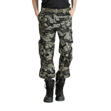 Lovers Mens Womens CAMO Military Multi-pocket Trousers Combat Cargo Casual Pants