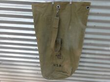 WWII USN NAVY DUFFLE BAG SEA BAG STAMPED CHAMPION CANVAS SUPPLIES