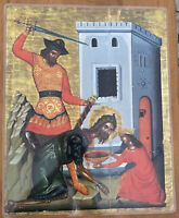 """Beheading of the Forerunner 14x11"""" Laminated Greek Orthodox Icon #15"""