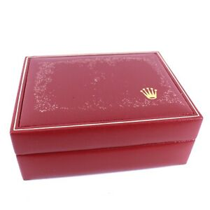 GENUINE ROLEX WATCH BOX RED LADIES 14.00.08 DATEJUST OYSTER PERPETUAL