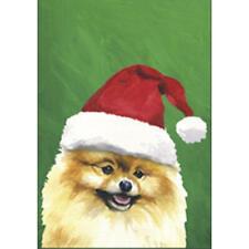 Pomeranian Christmas Flag