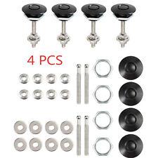 4PCS Push Button Quick Release Bonnet Catch Hood Pins Latch Protectors Lock Kit