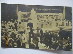 Wien Kaiser Franz Josef, Enthüllung Kaiserin Sissi Denkmal, Fotokarte 1907
