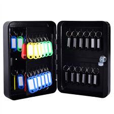 48 Hook Key Box Metal Safe  w/Tag  Case Cabinet Wall Mount Home Car Lock Storage