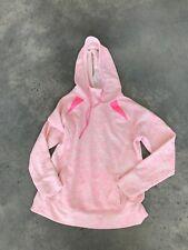 TG Tek Wear Pink White Womens Hoodie Dipdye Sweatshirt GZ SZ Medium