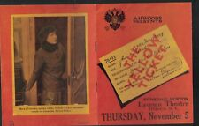 The Yellow Ticket 1913 Play Ad Booklet Lyceum Theatre Ithaca NY