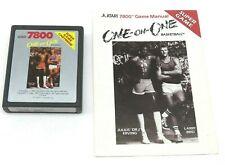 One-on-One Basketball (Atari 7800, 1987) By Atari (Cartridge & Manual) NTSC