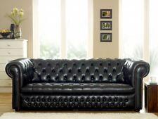Chesterfield Design Luxus Polster Sofa Couch Sitz Garnitur Leder Textil Neu #119