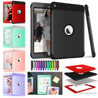 "For Apple iPad 9.7"" 5th 6th Generation Shockproof Rugged Armor Hard Case Cover"