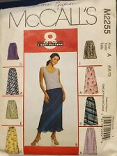 McCall's pattern 2255 Misses' 8 Great Looks Pull-On Bias Skirts Sz 6,8,10 uncut