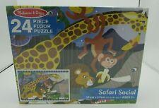 Melissa & Doug Safari Social 24 Piece Floor Puzzle