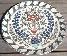 -Grand Plat 36,5 cm Céramique à décor d'Iznik signé LACHENAL