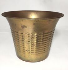 "Vintage Hammered Solid Brass Planter Small Pot Gatco 5.5"" Jungalow Art Decor"