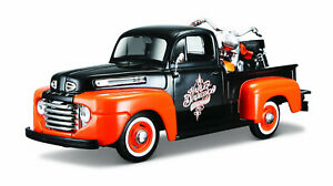 Ford F-1 1948 With Harley-Davidson Flh Duo Glide 1958 scale 1:24
