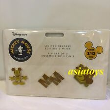 New Sealed pin set Mickey Mouse Memories February Disney Store authentic