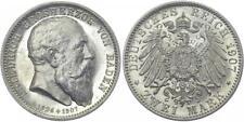 BADEN 2 Mark 1907 G Friedrich I. Auf den Tod