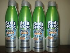 Lot of 4 Bull Frog Water Armor Insta Cool Continuous Spray 6 oz Sunscreen SPF 50