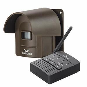 HOSMART 1/2 Mile Rechargable Weatherproof Outdoor/Driveway Wireless Motion Alarm