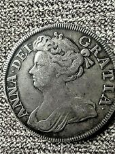 More details for 1714 queen anne half crown silver coin