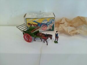 Vintage Britains Farm Tumbrel Horse And Cart With Drover Mint And Boxed Lilliput