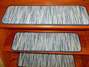 14 Step  9'' x 30'' Stair Treads  50% Tencel /40% Wool /10% Nylon Carpets