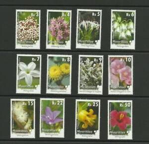 MAURITIUS SG1180-1191 INDIGENOUS FLOWERS OF MAURITIUS MNH