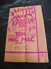 Partitur Kareli Karela Samba Legrand Tom Mic Mac Ted Mexner Mambo 1955 Lichter