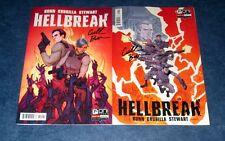 HELLBREAK #1 signed 1:20 variant + reg set 1st print CULLEN BUNN ONI PRESS COMIC
