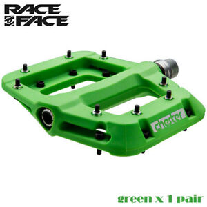 "Race Face Chester Composite Platform Mountain Bike Pedals 9/16"",Green"