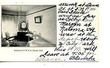 Interior-YWCA-Bedroom-Furniture-Denver-Colorado-Und/b Vintage Postcard