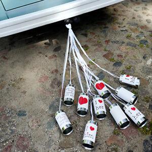 Blechdosen 5 Stück weiß Autodeko Autoschmuck Büchsen
