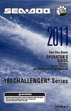 Sea-Doo Owners Manual Book 2011 180 CHALLENGER